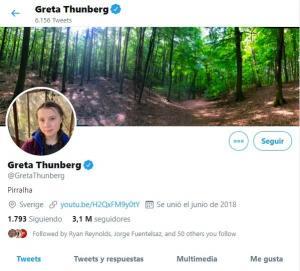 Bolsonaro tilda a Greta Thunberg de ''mocosa'' y ella lo asume en Twitter