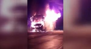 Bus de la cooperativa Carlos Alberto Aray se incendió en Flavio Alfaro