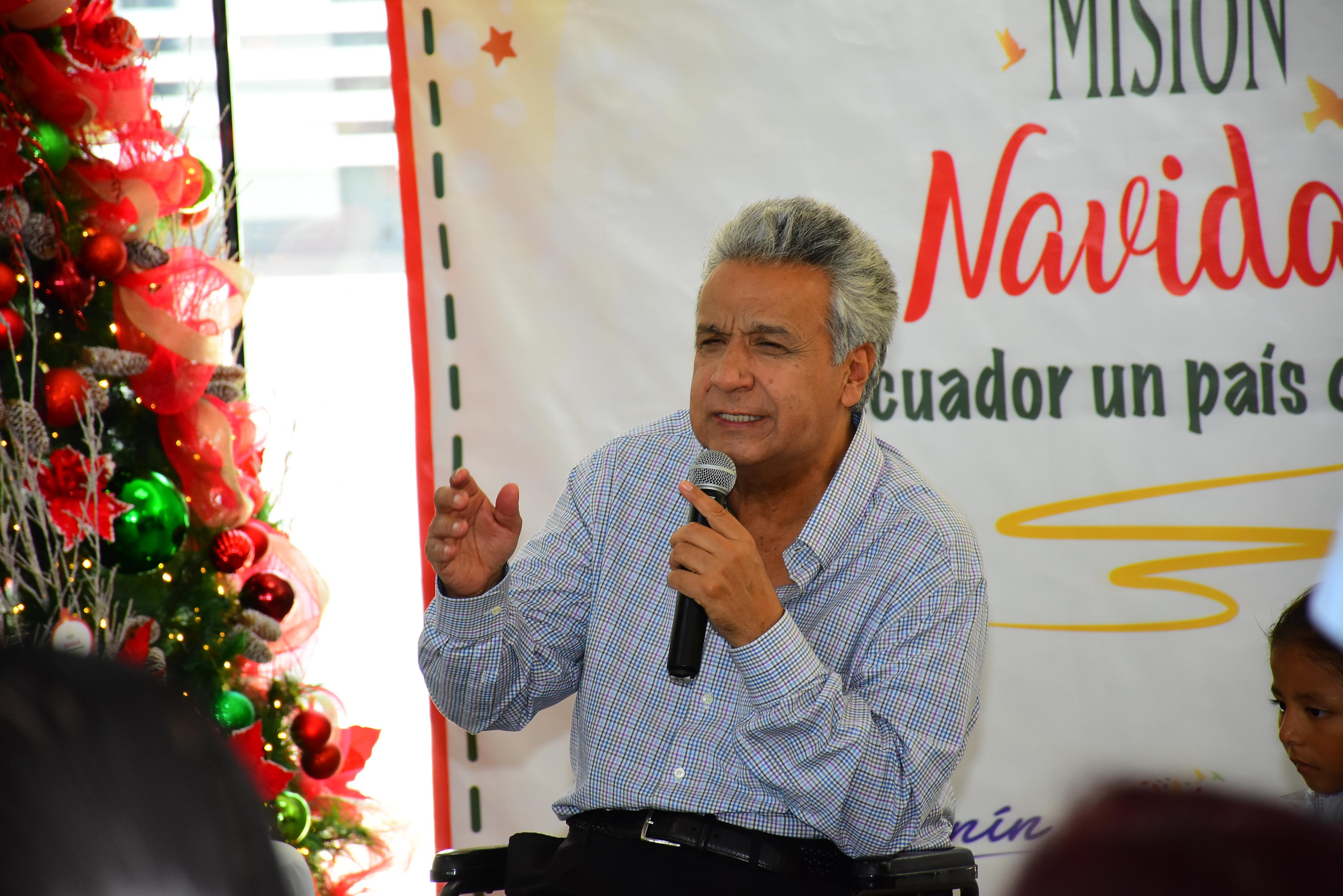 El presidente Lenín Moreno felicita a Delfín por el título