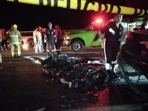 Siete fallecidos y tres heridos en accidente de tránsito en la vía Santa Elena-Guayaquil