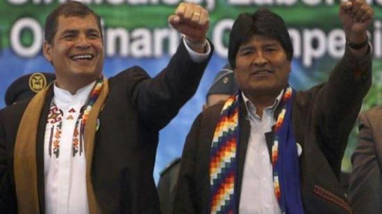 Rafael Correa a Evo Morales: ''Ánimo, Evo, resistiremos y venceremos''