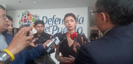 Defensoría pedirá medidas a CIDH para ecuatoriana que perdió ojo en protestas