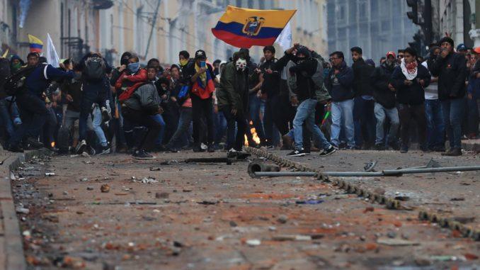 CIDH pide a Ecuador que sancione a los responsables de violencia en protestas