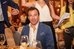 Alessandro Del Piero, protagonista del entrenamiento y cena de Barcelona