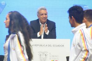 Lenín Moreno le presentó su proyecto 'Juego limpio 2030' al presidente de la FIFA