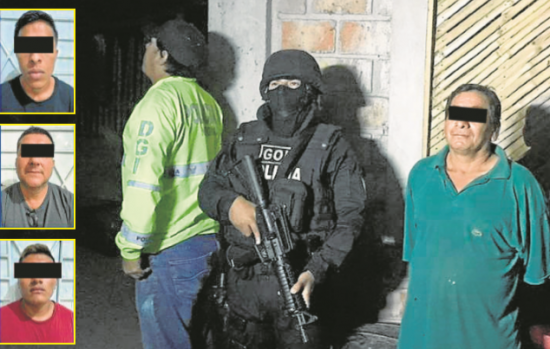 Operativo dejó como resultado 4 personas detenidas y 7 armas de fuego decomisadas