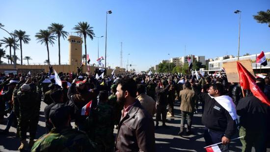 Impactan cinco cohetes cerca de la Embajada estadounidense en Bagdad