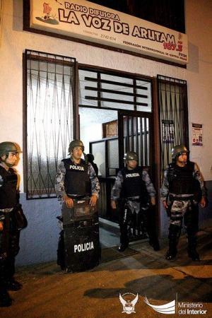 Cuatro heridos durante irrupción a sede indígena en la Amazonía ecuatoriana