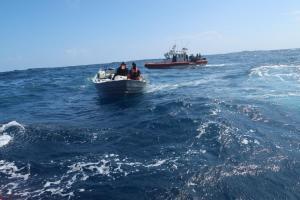 Policía de Ecuador participa en decomiso de cocaína en aguas internacionales