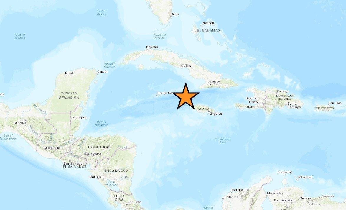 Terremoto de magnitud 7,7 sacude el Caribe, 125 kilómetros al sur de Jamaica