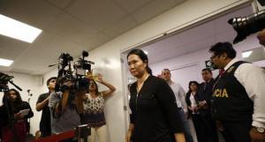 Keiko Fujimori llega a la audiencia donde se decide si regresará a prisión