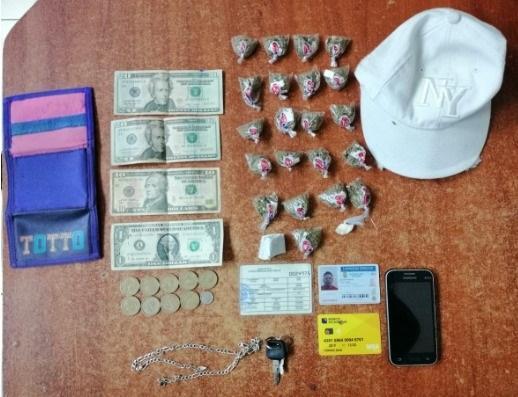 Cuatro personas son detenidas con droga en Flavio Alfaro