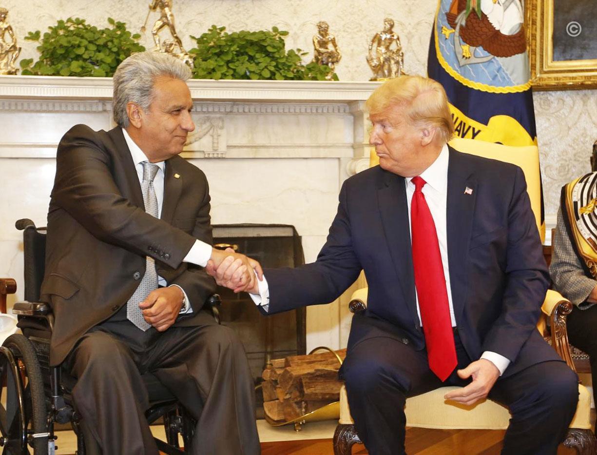 Trump busca un acuerdo comercial con Ecuador y le ofrece ayuda ''con el narco''