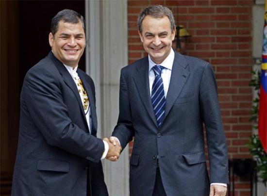 Zapatero pide la condonación de la deuda de América Latina junto a Correa, Rousseff y Samper