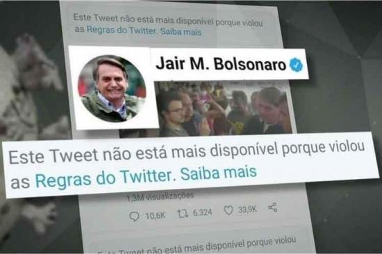 Twitter suspendió la cuenta del presidente de Brasil, Jair Bolsonaro