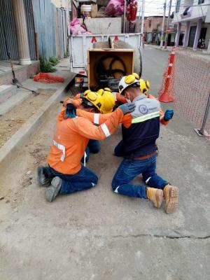 Antes de salir a laborar, trabajadores de la EPAM se encomiendan a Dios