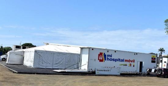 Ministro de Salud dijo que el hospital móvil de Pedernales no será retirado