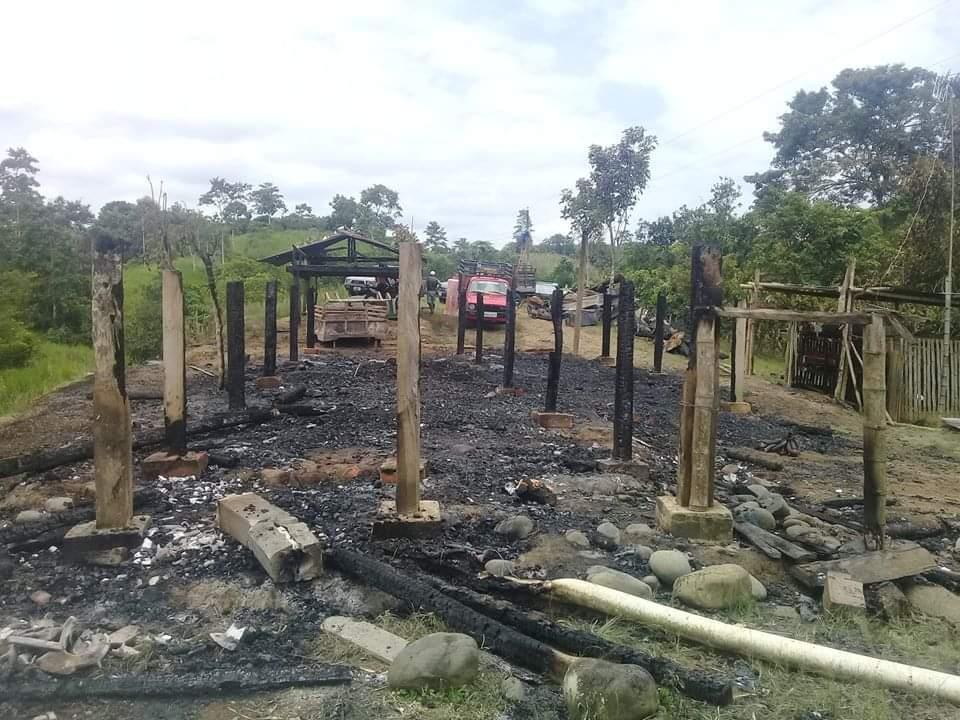 Adolescente resulta con quemaduras tras el incendio de una vivienda