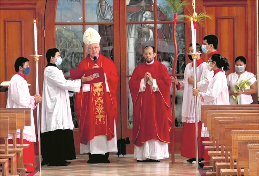 Unos 130 mil fieles se conectaron a la misa de Domingo de Ramos