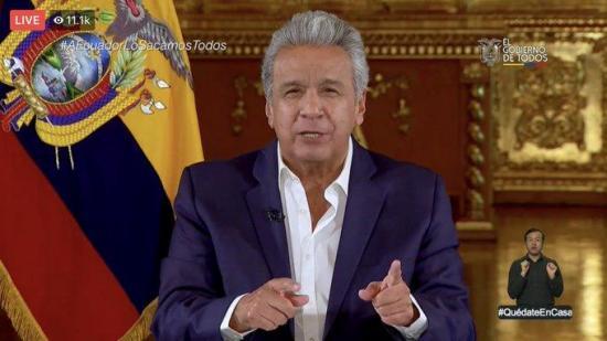 El presidente Moreno anuncia la creación de una cuenta social de asistencia solidaria