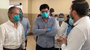 Vicepresidente Sonnenholzner visita el hospital Verdi Cevallos, de Portoviejo