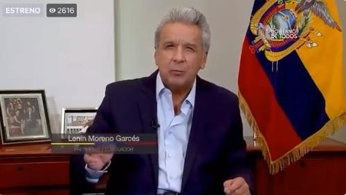 Lenín Moreno: ''Mi situación me impide salir a territorio''