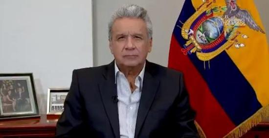 Presidente Lenín Moreno: ''Ecuador enfrenta el momento más crítico de su historia''