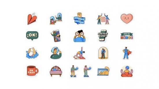 WhatsApp y la OMS lanzan 'Juntos en casa', una nueva colección de stickers