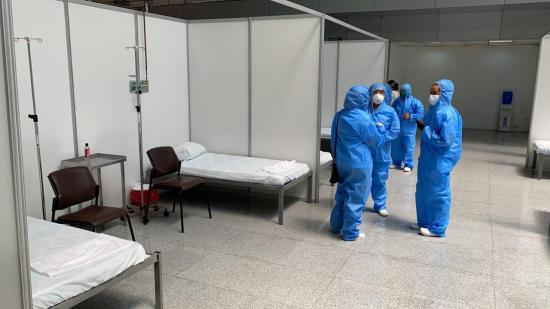 Listo en Guayaquil hospital para covid-19 en el Centro de Convenciones