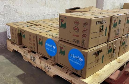 UNICEF entrega suministros vitales al Gobierno de Ecuador para apoyar la emergencia por el COVID-19