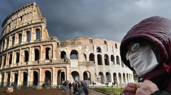 Italia registra 415 muertos en 24 horas, la menor cifra en más de un mes