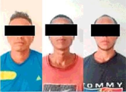 Detienen a tres hombres por tráfico de drogas