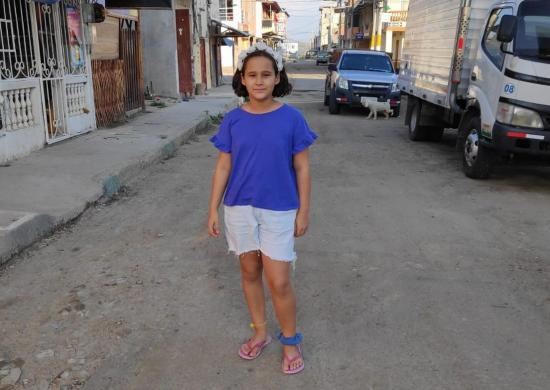 Una niña rumano-italiana está 'atrapada' en Manabí por el Covid-19