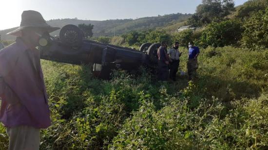 Un muerto y un herido deja accidente de tránsito en Rocafuerte