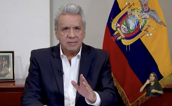 Moreno anuncia plan de alimentación para más de ocho millones de ecuatorianos