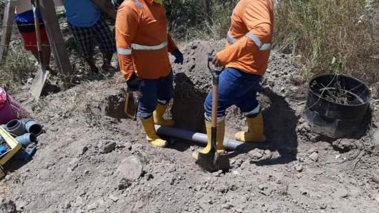 Retiran una tubería clandestina que tenía más de 80 días instalada