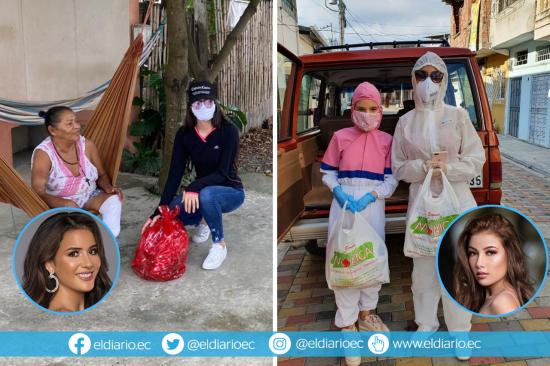 Las Reinas de Manabí y Portoviejo muestran su lado más solidario en esta pandemia