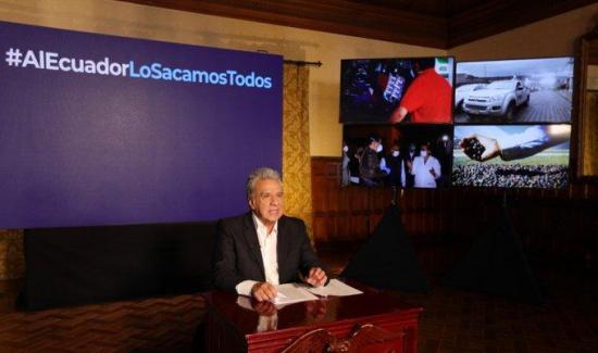 El presidente Lenín Moreno anuncia un recorte de más de $4 mil millones en el gasto público de Ecuador