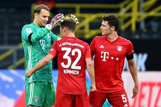 El Bayern Múnich vence por 0-1 al Borussia Dortmund, en el primer clásico alemán tras la cuarentena