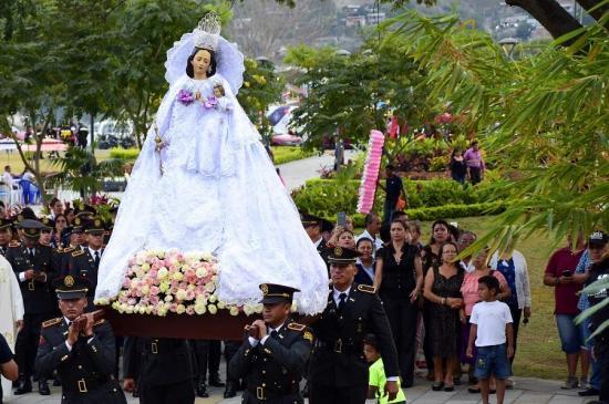 La imagen del la Virgen de La Merced recorrerá las calles de Portoviejo en una procesión sin público