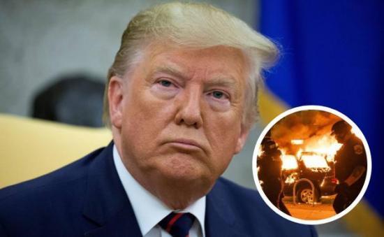 Protegieron a Donald Trump en el búnker de la Casa Blanca por los disturbios