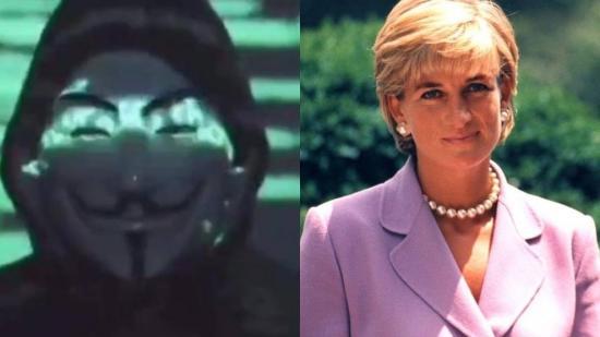 Anonymous vuelve y revela las supuestas razones secretas de la muerte de Lady Di