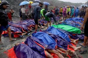 Más de 160 muertos en la mina de jade más grande del mundo
