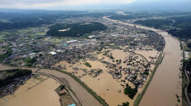 Intensas lluvias en el sudoeste de Japón causan más de treinta muertos