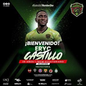 El ecuatoriano Eryc Castillo ficha por el Juárez