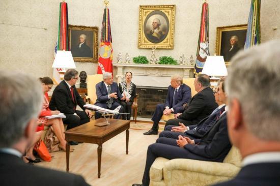 Trump dice frente a López Obrador que los mexicanos son ''gente fantástica''