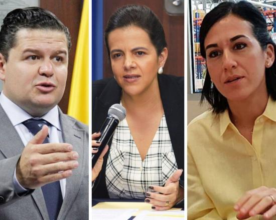 Romo, Roldán y Muñoz forman la terna para elegir al vicepresidente de Ecuador