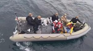 Tres pescadores manabitas fueron rescatados por la Guardia Costera de los Estados Unidos