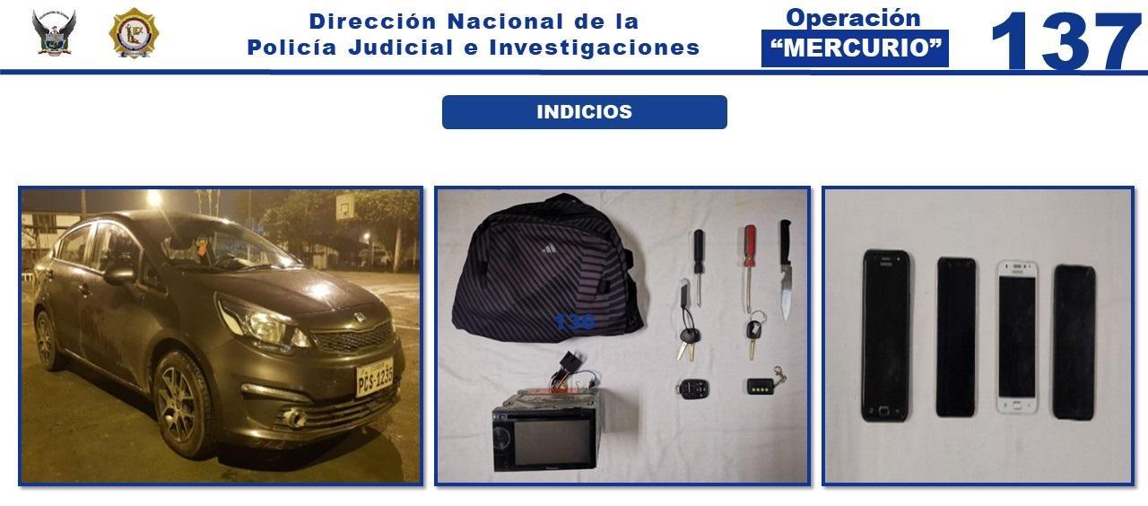 Cuatro colombianos integraban una presunta banda dedicada al robo de accesorios de carros