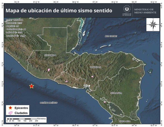 Sismo de 5,8 de magnitud se registra en el sur de Guatemala sin causar daños